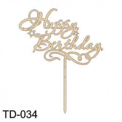 Топпер - Happy Birthday